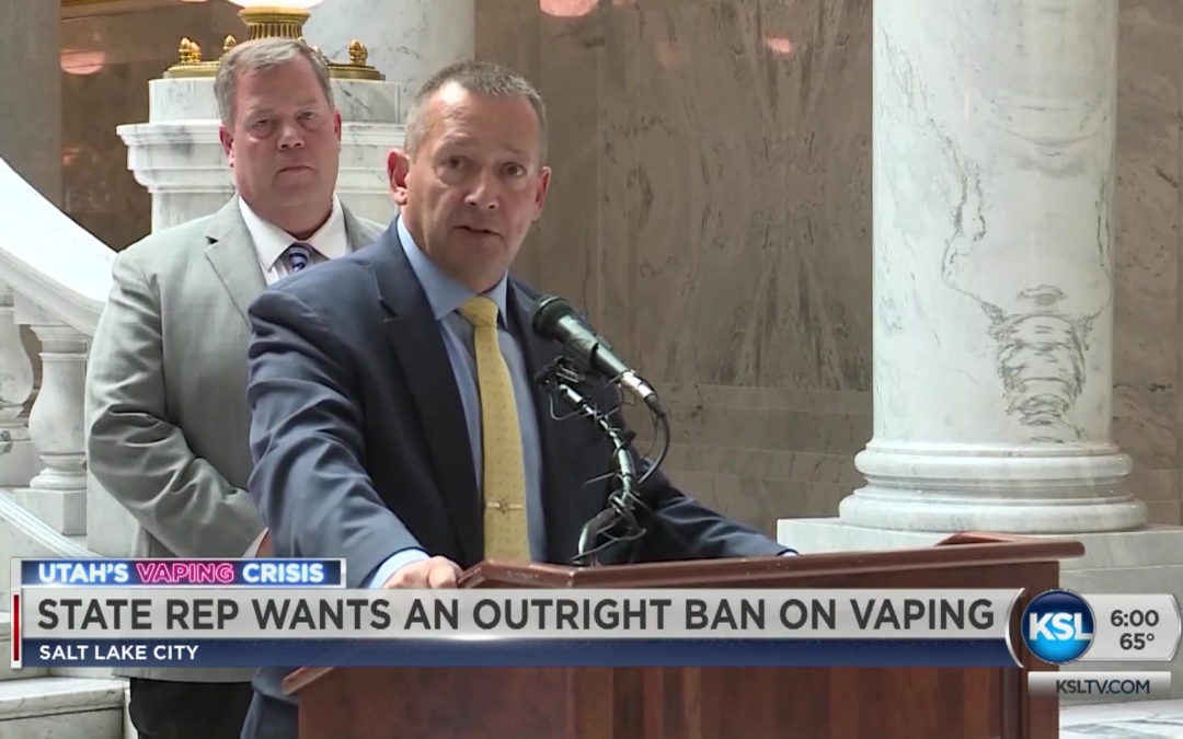 Utah Lawmaker Calls For Total Ban On All Vaping Products