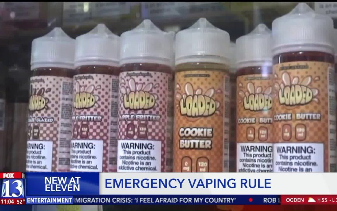 Utah health officials pass emergency rule limiting who can sell flavored e-cigarette products